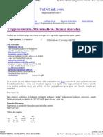 TRIGONOMETRIA-MATEMÁTICA-DICAS E MACETES