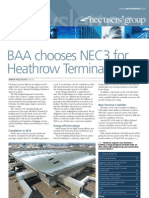 BAA Chooses NEC3 for Heathrow Terminal 2