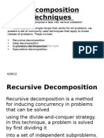 Decomposition Techniques
