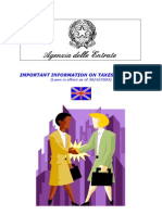 Important Information on Taxes in Italy