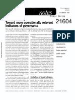 Governance Indicators