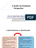 Shariah Audit an Analytical Perspective