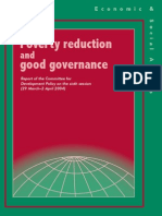 Poverty Reduction and Governance