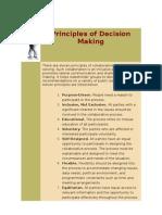 Principles of Decision Making