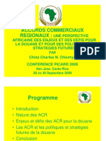 Accords Commerciaux Regionaux - Perspective Africaine