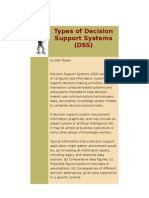 Types of Decision Support Systems
