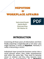 Nepotism and Workplace Affairs