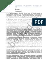 PROPUESTA DE LINEAMIENTOS PARA ELABORAR  LA POLÍTICA  DE INCLUSIÓN DEL CHMD