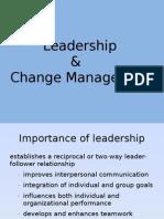 Leadership & Change Management - Course Contents