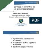 IMPORTANCIA DEL SECTOR SERVICIOS EN COLOMBIA