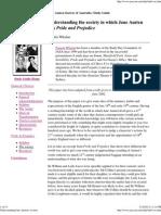 Understanding Jane Austen's Society