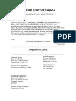 MMF Factum 1st. Appeal 1989