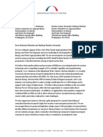 Letter to Senate Subcommittee on Energy and Water Development Chairman Dianne Feinstein and Ranking Member Lamar Alexander from BPC Nuclear Initiative Co-Chairs Pete V. Domenici and Dr. Warren F. Miller