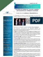 Lettre d'Information N°3 de l'Association Montpellieraine Pour la Promotion de L'Intelligence Economique
