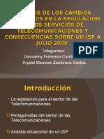 Regulacion de Las Telecomunicaciones en Ecuador