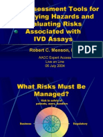 Risk Assessment Tools for IVD Assays