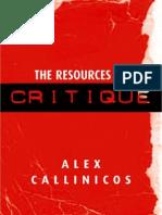 Callinicos the Resources of Critique