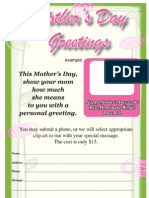 Mother's Day Greetings Newspaper Promo
