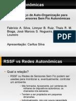 Um Serviço de Auto-Organização para Redes de Sensores Sem Fio Autonômicas (Slides)