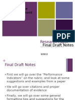 Final Draft Notes