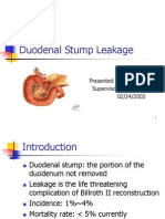Duodenal Stump Leakage