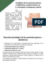 Reacciones psicológicas de los pacientes gineco-obstetricos, inhibiciones