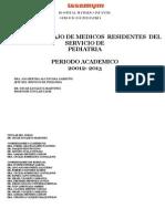 Plan de Trabajo 2012-2013 Pediatria
