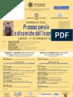 Processo Penale e Dinamiche Dell'Inconscio - Manifesto