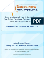CDC Webinar with Autism NOW April 17, 2012