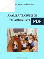 Analiza textului argumentativ