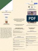 Brochure Convegno Lecce, 11-12 Maggio 2012 - Processso Penale e Dinamiche Dell'Inconscio