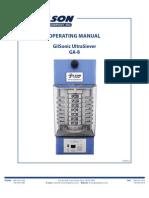 Gilsonic Ultrasiever - Manual