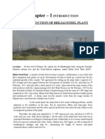 Project on Bhilai Steel Plant a Study of Cash Management