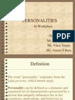 Book Presentation Personality