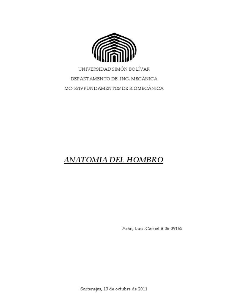 Informe de Anatomia Del Hombro