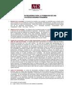 ion Requerida Para La Formacion de SOC ANONIMAS PANAMENAS