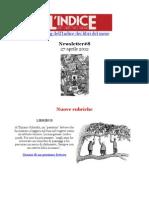 Newsletter #8 del blog dell'Indice dei libri del mese (27 Aprile 2012)