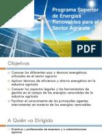 Programa Superior de Energías Renovables para el Sector Agrícola