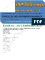 Current Awareness Multiple Choice Model Paper 2011 - TheOnlineGK