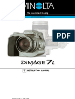 Manual Minolta Dimage 7i