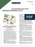 150 Herramientas Gratuitas Para Crear Materiales Educativos Didacticos Con Tic