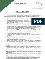 Regulation Form RSS Moldova 2012