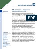 Emerging Markets Anti Crisis Measures