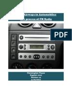 The Process of FM Radio