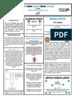 Newsletter 4-27-2012