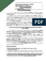 ÉTICA PROFISSIONAL (4° sem.) - APOSTILA I