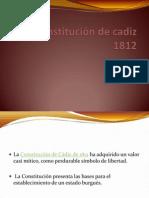 Presentación Constitución de cadiz 1812