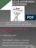 evaluation of marketing effectivness