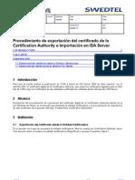 IT_Procedimiento Exportacion Certificado Dig Importacion ISA Srv