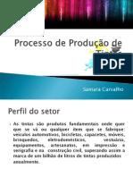 Processo de Produção de Tintas